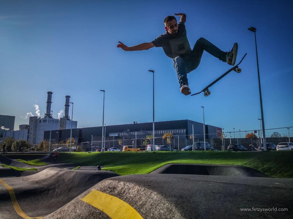 Pumptrack Linz Skateboard