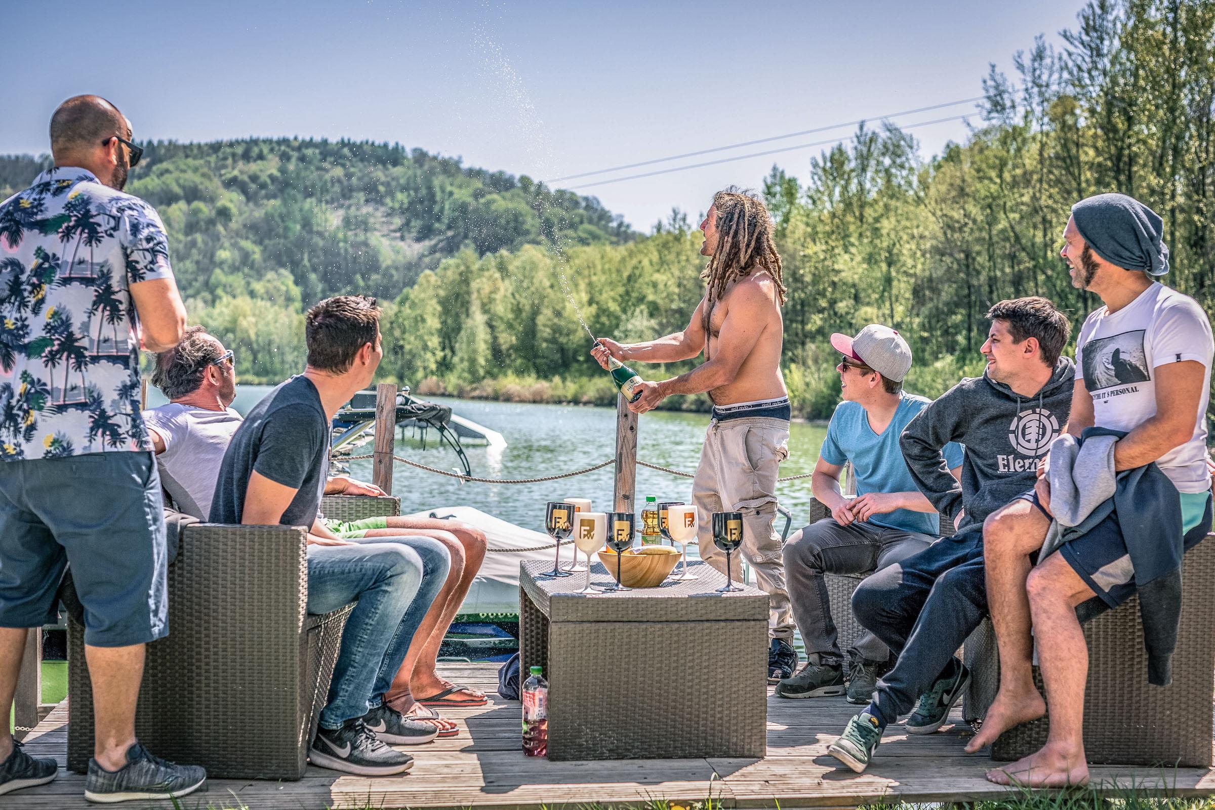 Wakeboardcamp-Champagner
