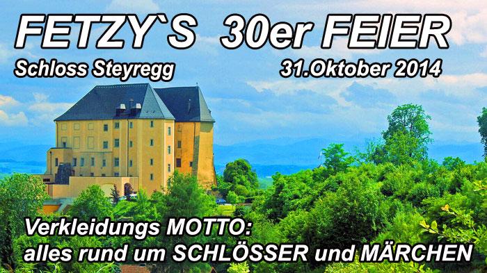 Fetzys 30er Feier Schloss Steyregg